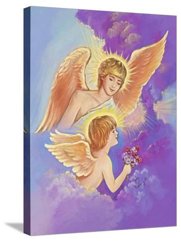 Two Angels-Judy Mastrangelo-Stretched Canvas Print