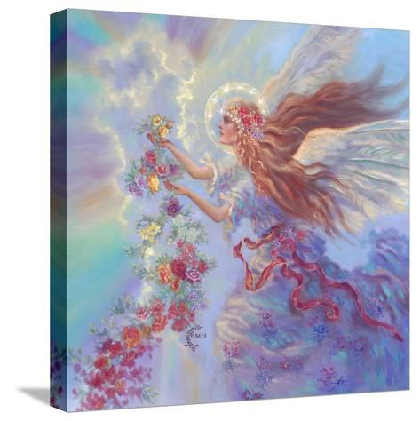 Angel with Flower Garland-Judy Mastrangelo-Stretched Canvas Print