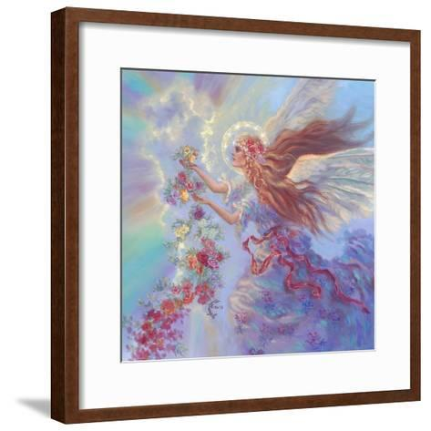 Angel with Flower Garland-Judy Mastrangelo-Framed Art Print