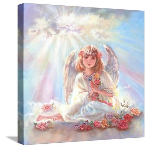 Girl Angel on Cloud-Judy Mastrangelo-Stretched Canvas Print