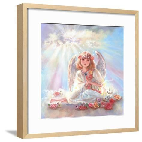 Girl Angel on Cloud-Judy Mastrangelo-Framed Art Print