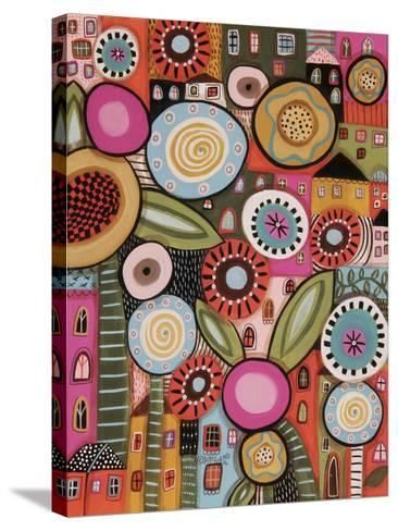Peeping Houses 1-Karla Gerard-Stretched Canvas Print