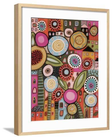 Peeping Houses 1-Karla Gerard-Framed Art Print