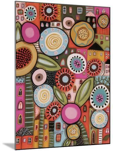 Peeping Houses 1-Karla Gerard-Mounted Giclee Print