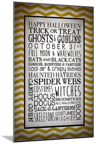Words of October-Kimberly Glover-Mounted Giclee Print