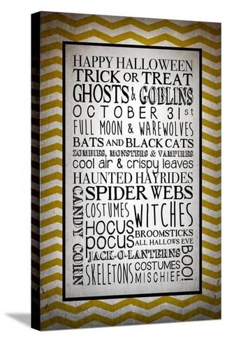 Words of October-Kimberly Glover-Stretched Canvas Print