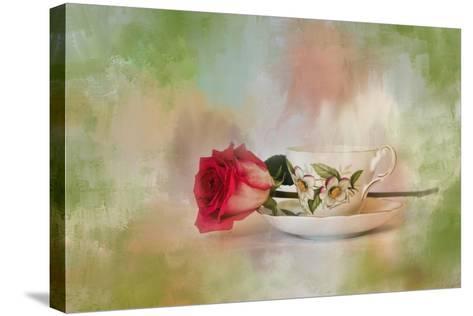 Christmas Rose-Jai Johnson-Stretched Canvas Print