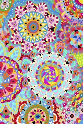 Pattern Flowers 2-Miguel Balb?s-Stretched Canvas Print