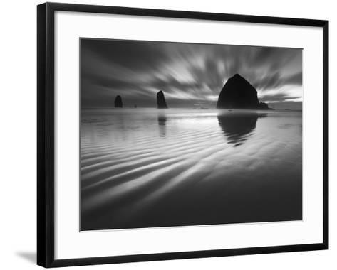 Cannon Beach Textures-1-Moises Levy-Framed Art Print