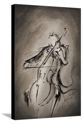 The Cellist-Marc Allante-Stretched Canvas Print