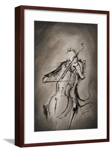 The Cellist-Marc Allante-Framed Art Print