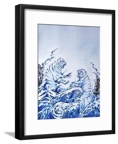 The Crashing Waves-Marc Allante-Framed Art Print