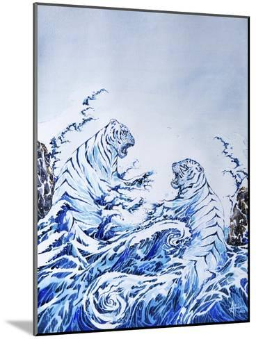 The Crashing Waves-Marc Allante-Mounted Giclee Print