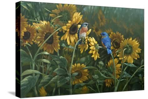 Sunflowers-Michael Jackson-Stretched Canvas Print