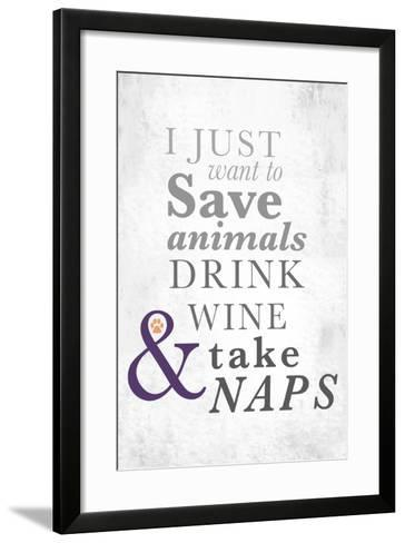 I Just Want to Save Animals-Kimberly Glover-Framed Art Print