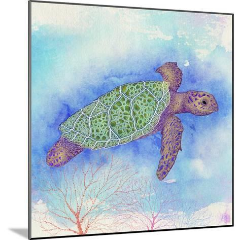 Bright Sea turtle-Kimberly Glover-Mounted Giclee Print