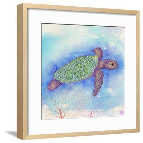 Bright Sea turtle-Kimberly Glover-Framed Art Print