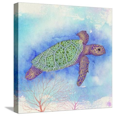 Bright Sea turtle-Kimberly Glover-Stretched Canvas Print