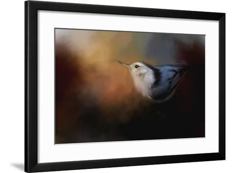 Nuthatch in Autumn-Jai Johnson-Framed Art Print