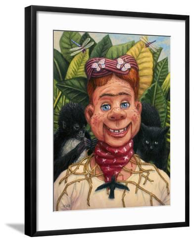 Howdy Frida Doody with Thorns-James W. Johnson-Framed Art Print