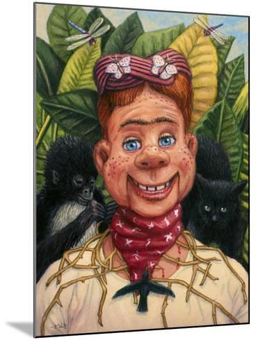 Howdy Frida Doody with Thorns-James W. Johnson-Mounted Giclee Print