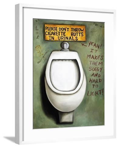 Urinal-Leah Saulnier-Framed Art Print