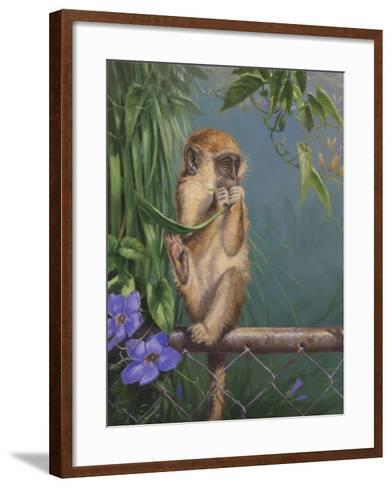 Monkey-Michael Jackson-Framed Art Print