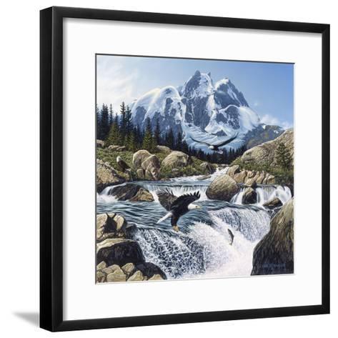 Fishing at Eagle Rocks-John Van Straalen-Framed Art Print
