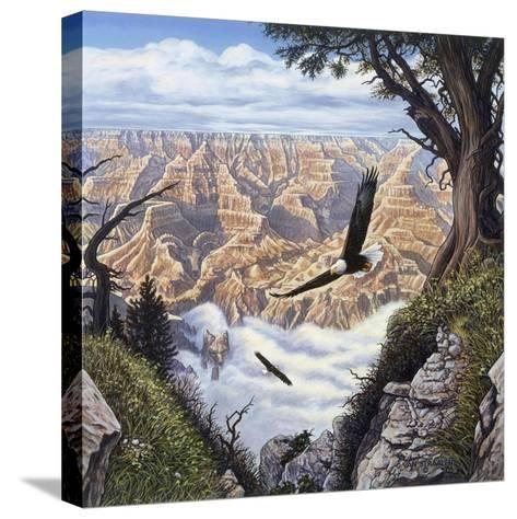 Guardians of the Canyon-John Van Straalen-Stretched Canvas Print