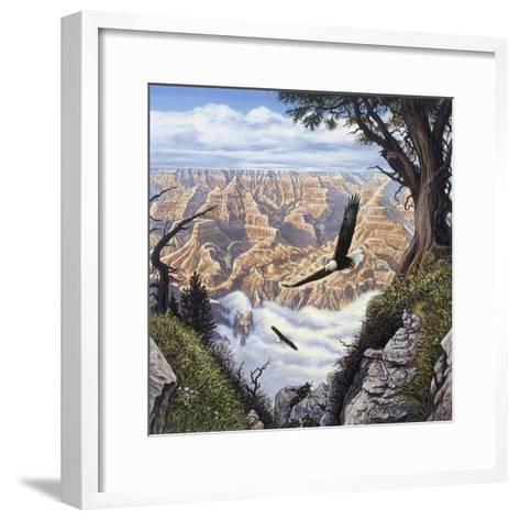 Guardians of the Canyon-John Van Straalen-Framed Art Print