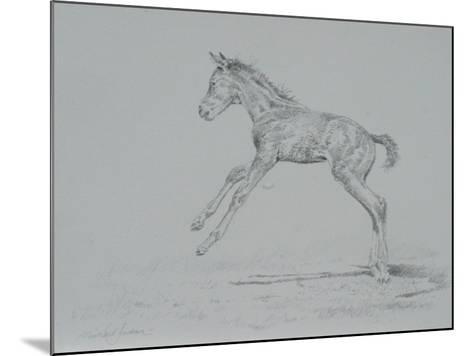 Foal Sketch-Michael Jackson-Mounted Giclee Print