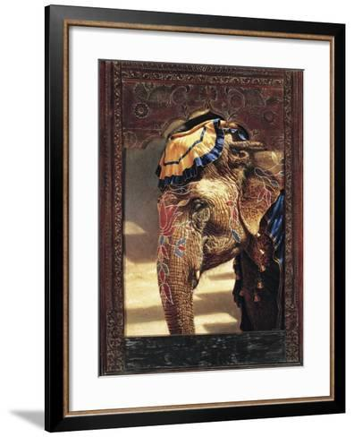Painted Lady with Frame-Michael Jackson-Framed Art Print