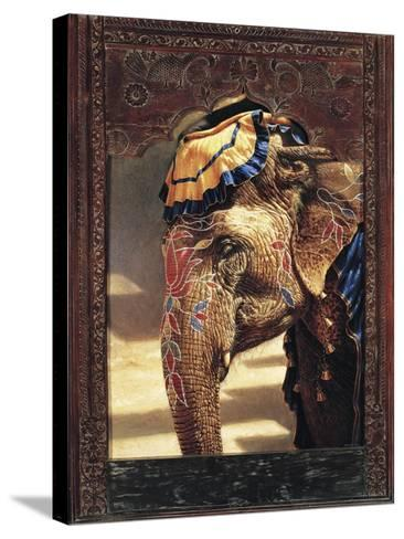 Painted Lady with Frame-Michael Jackson-Stretched Canvas Print