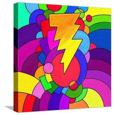 Pop Art Lightening Bolt-Howie Green-Stretched Canvas Print