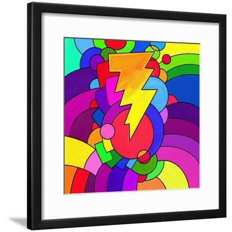 Pop Art Lightening Bolt-Howie Green-Framed Art Print