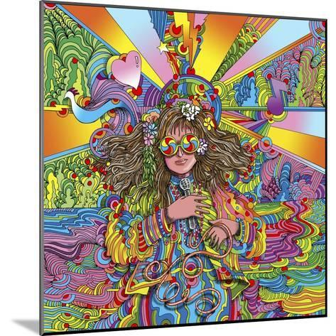 Hippie Chick Swril Glasses-Howie Green-Mounted Giclee Print