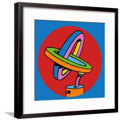Loop Duo Circle-Howie Green-Framed Art Print