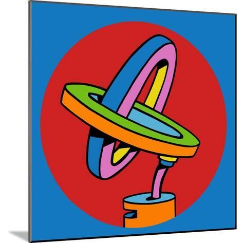 Loop Duo Circle-Howie Green-Mounted Giclee Print