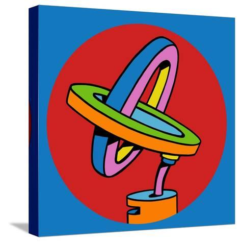 Loop Duo Circle-Howie Green-Stretched Canvas Print