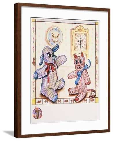 Gingham Dog and Calico Cat-Judy Mastrangelo-Framed Art Print