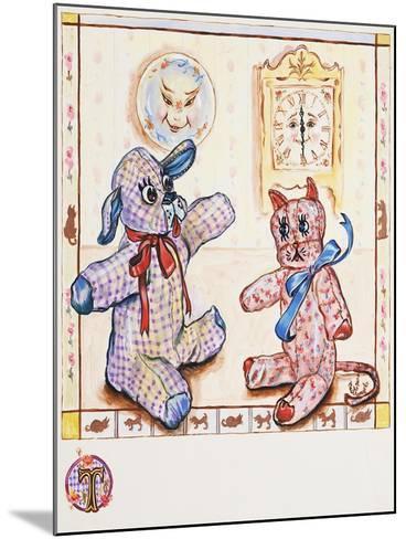 Gingham Dog and Calico Cat-Judy Mastrangelo-Mounted Giclee Print