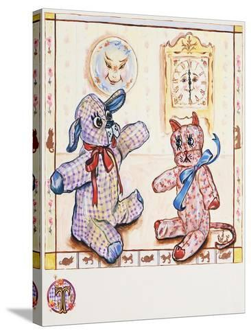 Gingham Dog and Calico Cat-Judy Mastrangelo-Stretched Canvas Print