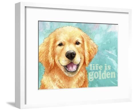 Life Is Golden Retriever-Melinda Hipsher-Framed Art Print