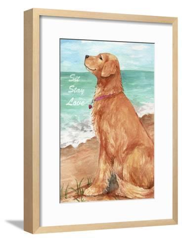 Golden Stay Love-Melinda Hipsher-Framed Art Print