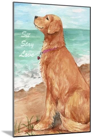 Golden Stay Love-Melinda Hipsher-Mounted Giclee Print
