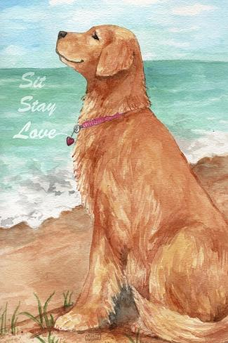 Golden Stay Love-Melinda Hipsher-Stretched Canvas Print