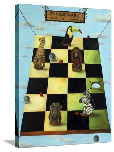 Jungle Wars-Leah Saulnier-Stretched Canvas Print