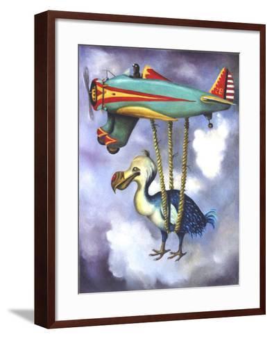 Lazy Bird W Dodo-Leah Saulnier-Framed Art Print