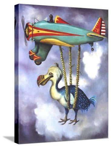 Lazy Bird W Dodo-Leah Saulnier-Stretched Canvas Print