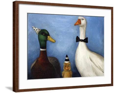 Duck Duck Goose-Leah Saulnier-Framed Art Print